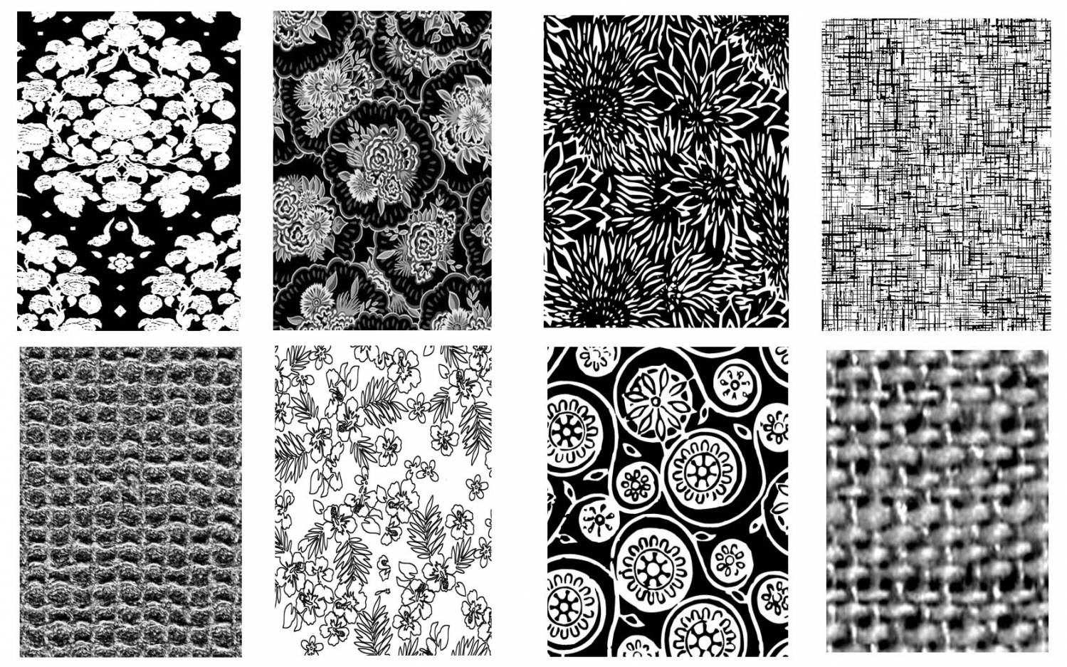 черно белые текстуры: